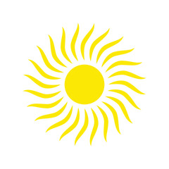 Sun icon vector isolated