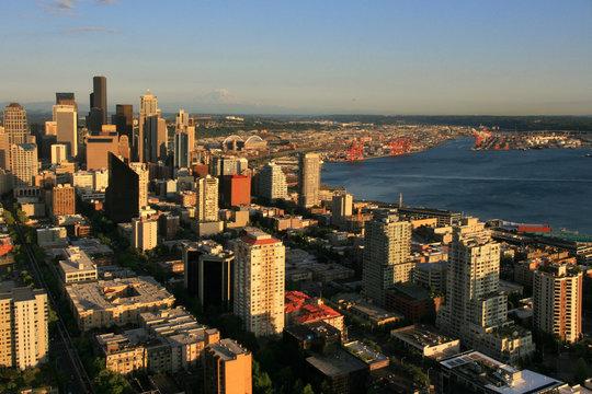 Seattle skyline from Space needle, Washington