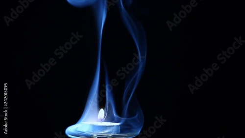 candle wax fire flame smoke dark background nobody hd