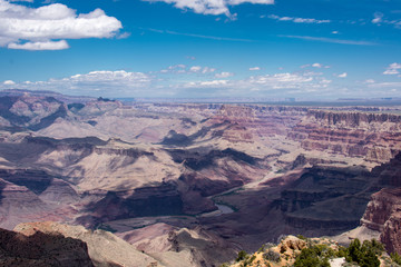 Mid day view at the Grand Canyon National Park in Arizona