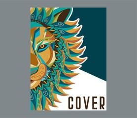 Colorfully Lion. Lion Logo. Creative Artwork - Vector