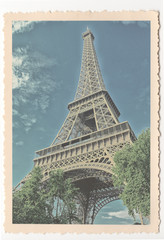 Eiffel Tower - Paris - vintage photograph