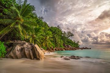 paradise beach at anse georgette, praslin, seychelles 12 Wall mural