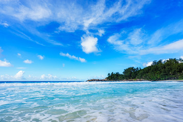 beautiful paradise beach at the police bay, seychelles 17