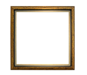 Old weathered natural wood frame