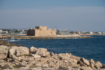 View from the coastal walk in Paphos Cyprus