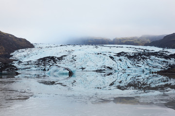 Glacier Tongue reflection - Skaftafell,Iceland