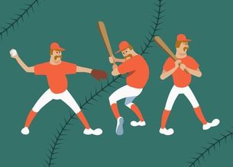 baseball player in various poses