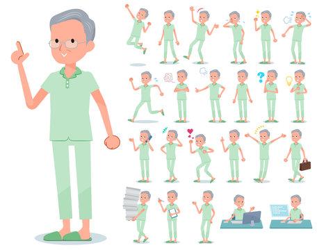 flat type patient old men_emotion
