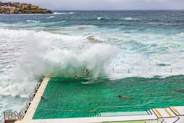 Staande foto Oceanië Bondi Beach swimming pool in Sydney, Australia
