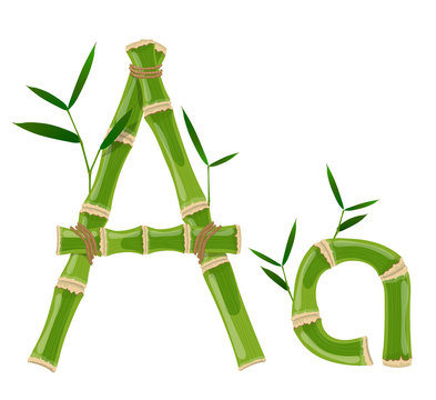 Bamboo letter A