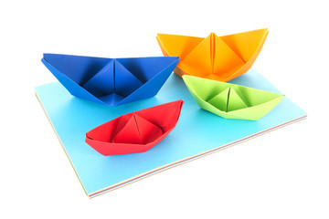 Folded Paper boats