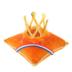 Dutch royal velvet pillow with crown