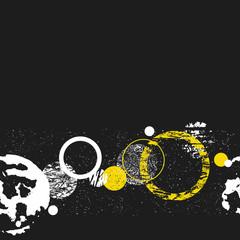 Monochrome graphic seamless circle pattern