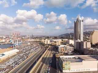 Haifa down town and port