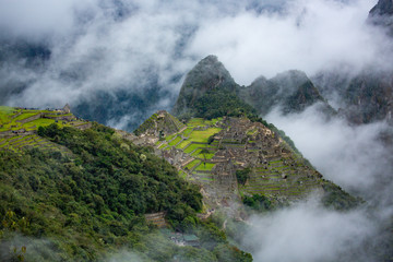 Machu Picchu in the fog