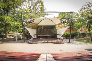 Lagow Amphitheater, built in 1969 and ever since used as the main venue of the Lubuskie Summer Film Festival.