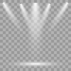 Vector Spotlights. Scene