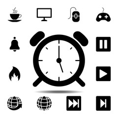 Wake Up Clock Logo Templateicon. Simple glyph vector element of web, minimalistic icons set for UI and UX, website or mobile application