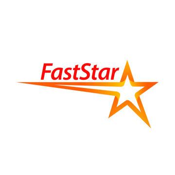 Fast star shape logo concept design template idea