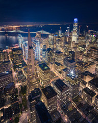 Fototapete - Aerial View of San Francisco Skyline at Night