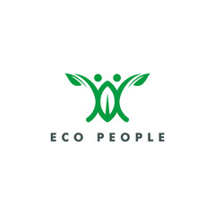 eco people logo template vector illustration