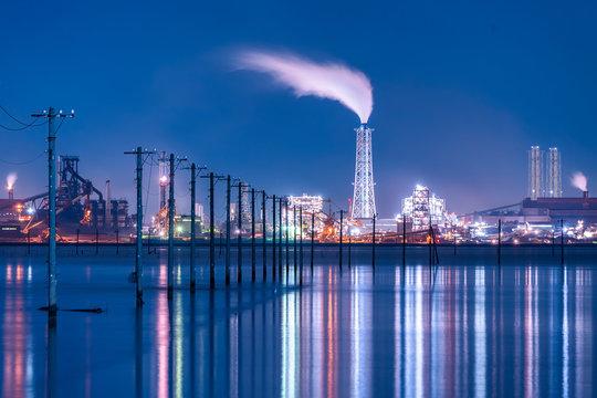 千葉県木更津 江川海岸 夜景