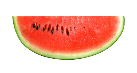 sliced fresh watermelon isolated on white background