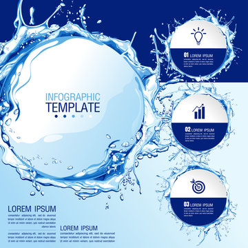 infographics business chart design template. You can place relevant content in the area, vector illustration.