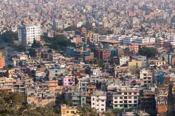 Skyline view of dense building at Kathmandu, Nepal.