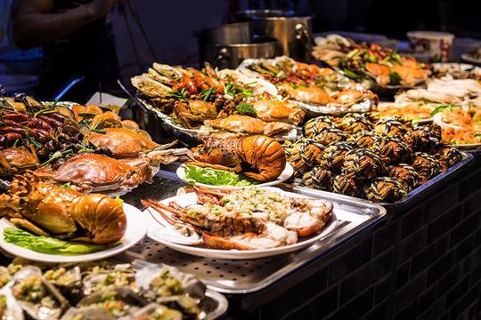 Seafood / Prawn on Food Street