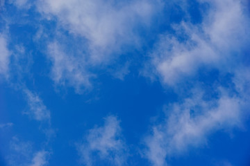 blue sky with white and gray clouds