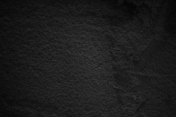 Black stone wall. Dark grey texture in natural pattern with high resolution for background and design art work.