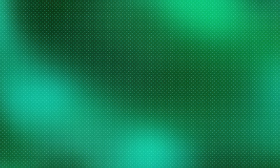 Abstract background with color gradient. Dark club backdrop with dotted texture. Desktop vector wallpaper. Gradient abstract green halftone illustration