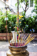 smoke sticks for an offering at a chinese temple