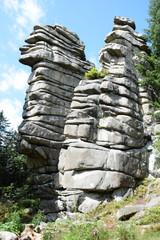 Fototapete - Drei Brüder am Schneeberg im Fichtelgebirge