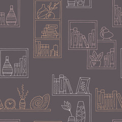 Shelves graphic color seamless pattern background illustration vector