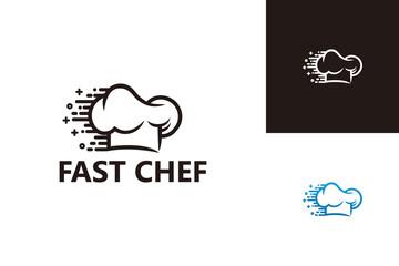 Fast Chef Logo Template Design Vector, Emblem, Design Concept, Creative Symbol, Icon