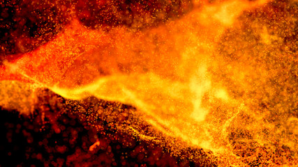 Hot Volcanic Magma, Lava Background