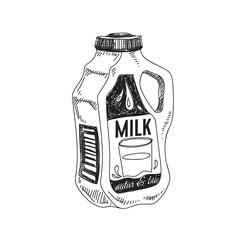 Beautiful vector hand drawn dairy Illustration.