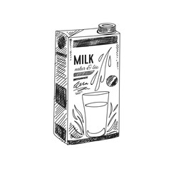 Beautiful vector hand drawn dairy Illustration.