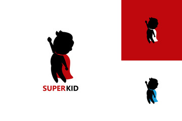 Fly Super Kid Logo Template Design Vector, Emblem, Design Concept, Creative Symbol, Icon