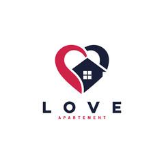 love house care logo concept