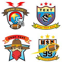 Vector set of different sport logos illustration