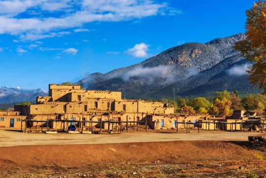 Ancient dwellings of Taos Pueblo, New Mexico