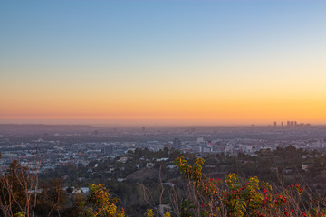Beautiful sunset view at Los Angeles, USA