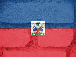 Flag Haiti, background, texture