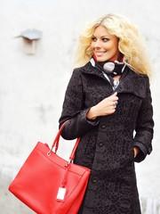 Beautiful stylish woman with bag