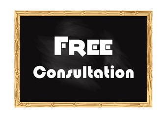 Free consultation. Blackboard concept record Vector illustration for design