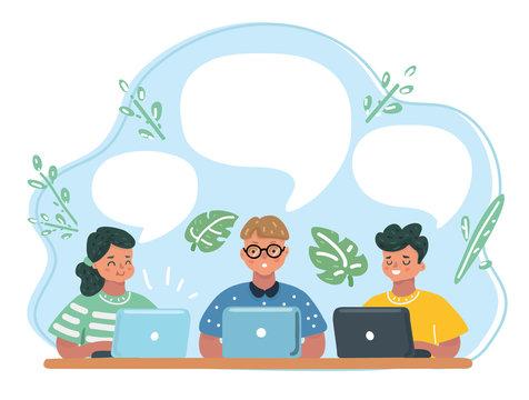 Elementary School Pupils In Computer Class